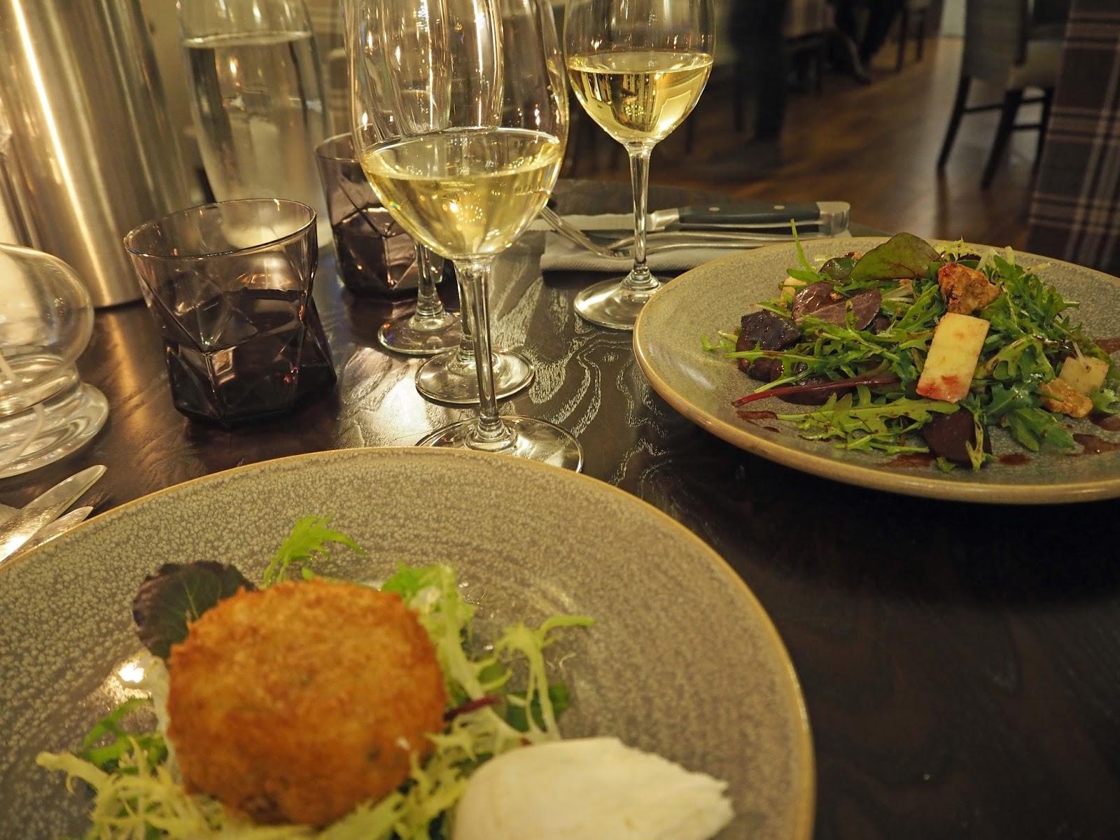 Prime restaurant, Stirk House, Gisburn, starters