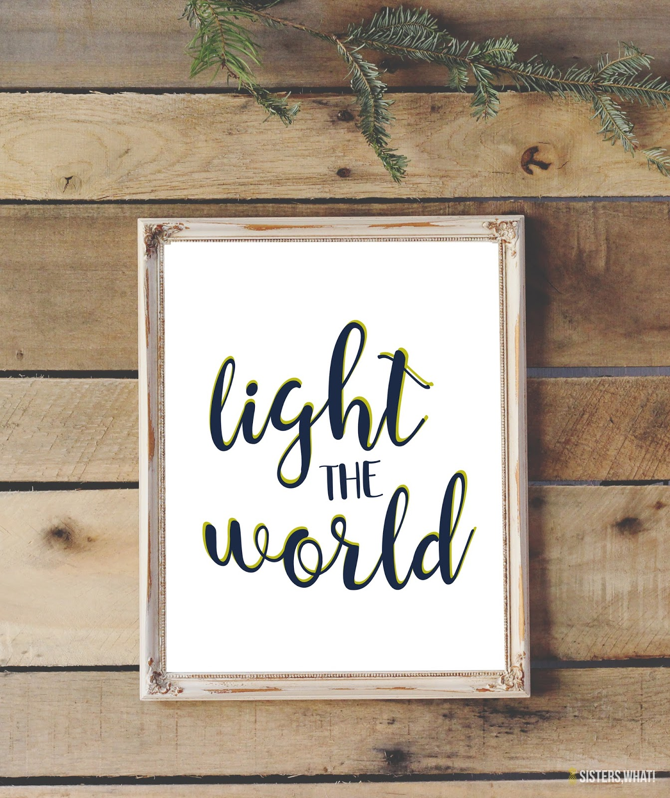 Free Christmas Printable #lighttheworld