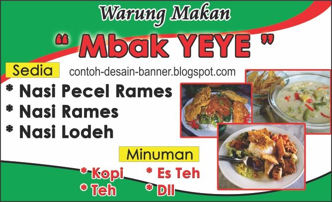 Desain Spanduk Rumah Makan Padang - contoh desain spanduk