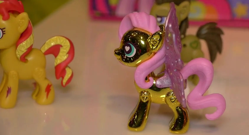 Metallic Fluttershy POP Pony at NY Toy Fair 2015