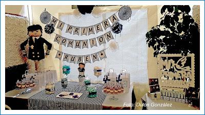 mesa dulce comunión niño almirante