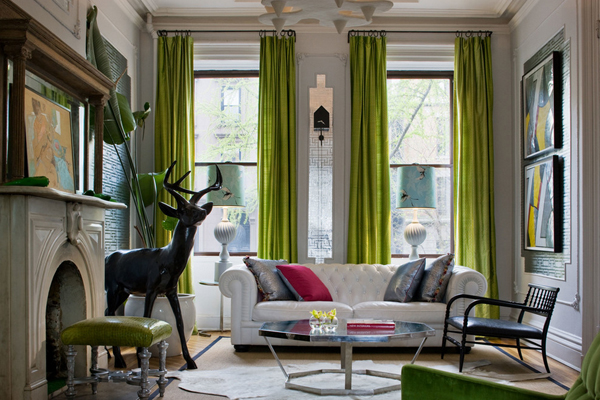 Charming Green Feminine Living Room Design Ideas with Fresh colors