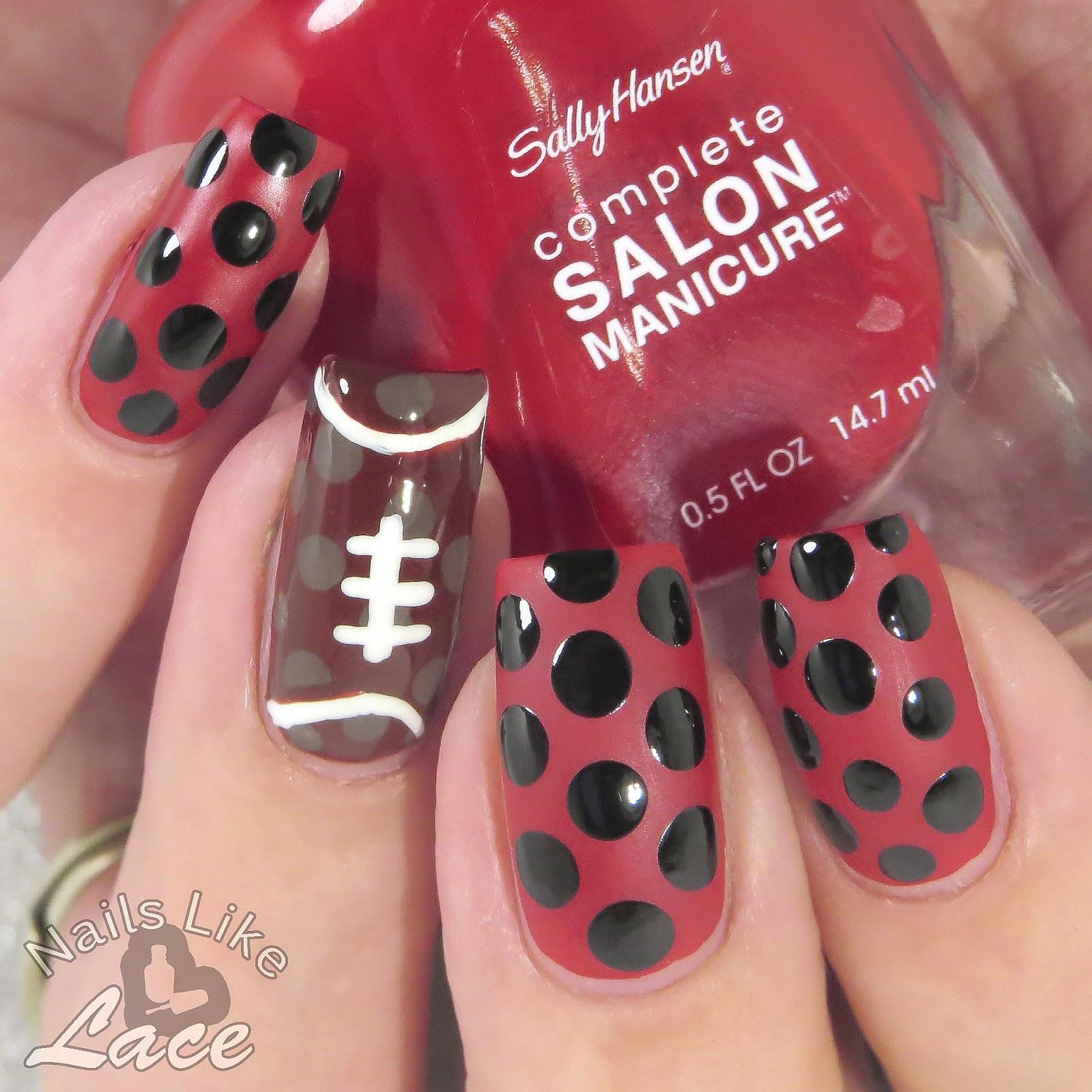 NailsLikeLace: Super Bowl Sunday Mashups from Sally Hansen: Patriots ...