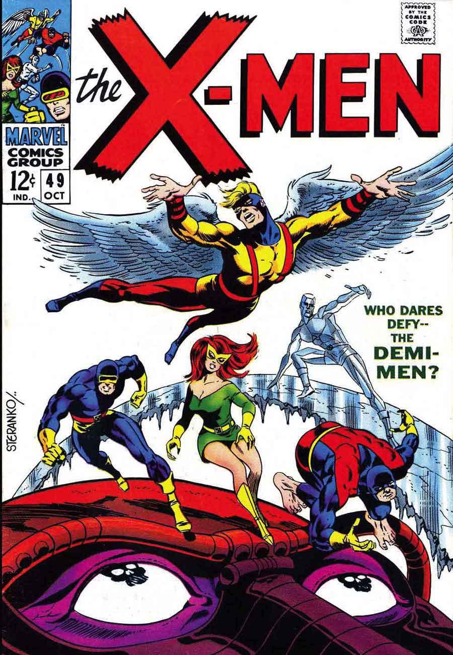 X-men v1 #49 marvel comic book cover art by Jim Steranko