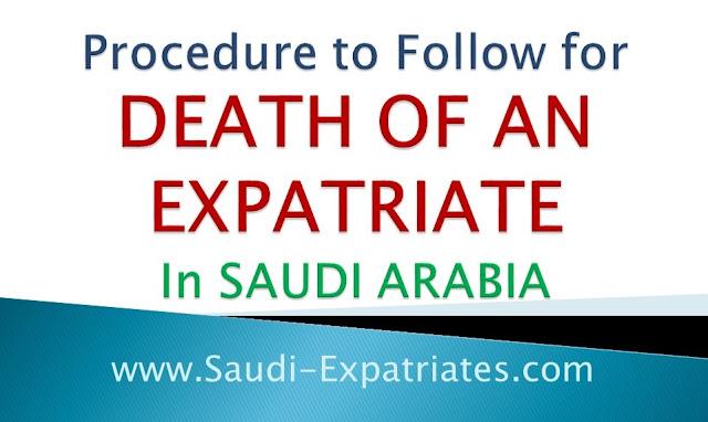 DEATH OF AN EXPATRIATE IN SAUDI ARABIA