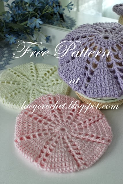 Lacy Crochet Baby Toddler Berets Free Crochet Pattern