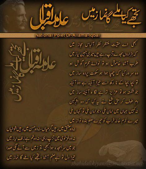 Iqbal Urdu Shayari Images: Allama Iqbal Poetry: November 2012