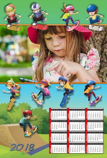 1 dei numerosi calendari a carattere sportivo