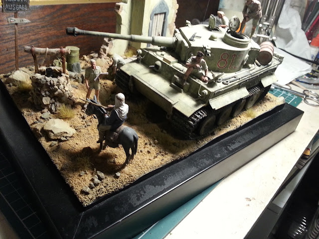 Tamiya 1/35 Tiger I tank scale model North Africa
