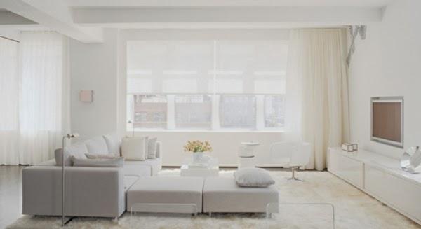 decorar sala blanca