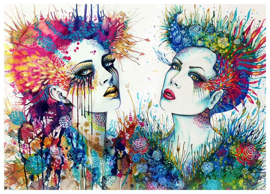 09-Goddesses-of-the-Nature-Svenja-Jödicke-PixieCold-Mixed-Media-Painting-and-Coloring-www-designstack-co