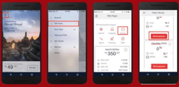 Cara aktifkan kuota VideoMax lewat aplikasi My Telkomsel Apps