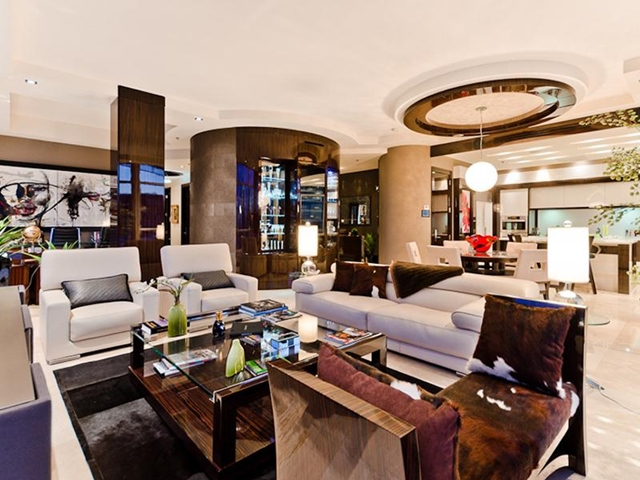 Photo of living room with luxury furniture