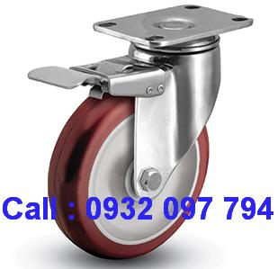 Bánh xe đẩy, bánh xe đẩy Inox, bánh xe đẩy có khóa