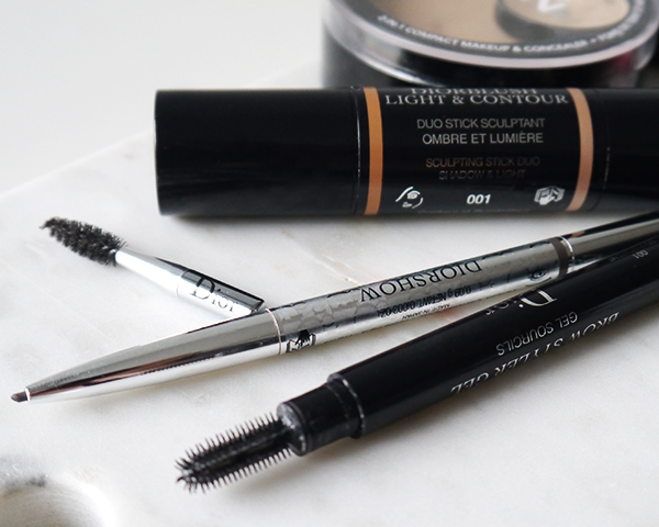 Minimalist beauty routine featuring Diorshow brow products
