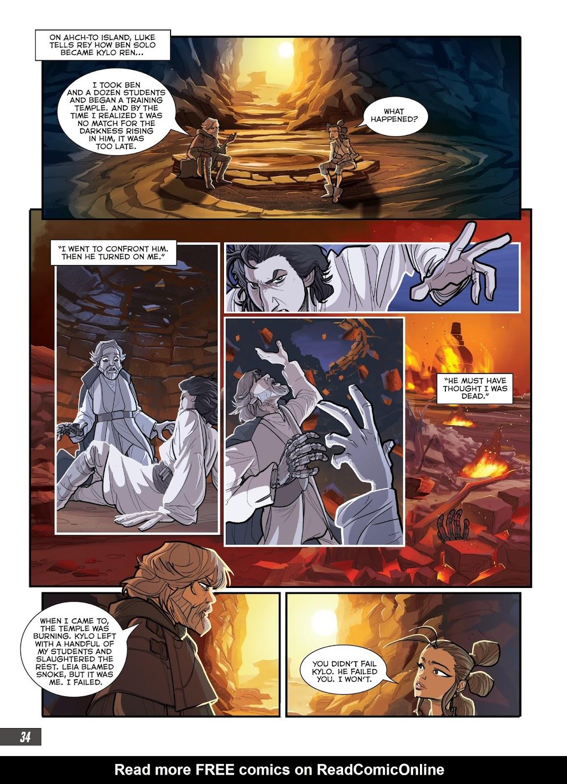 Read Online Star Wars The Last Jedi Graphic Novel Adaptation Comic Issue Tpb