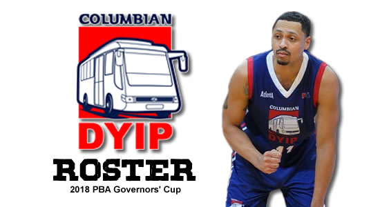 LIST: Columbian Dyip Roster 2018 PBA Governors' Cup