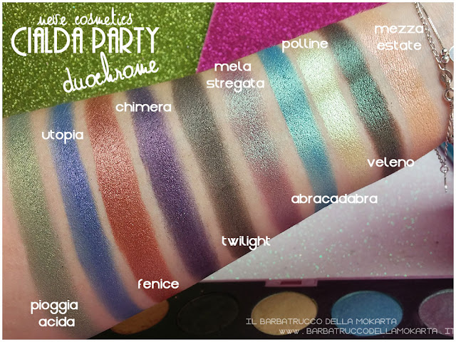duochrome swatches neve cosmetics cialda party review recensione makeup