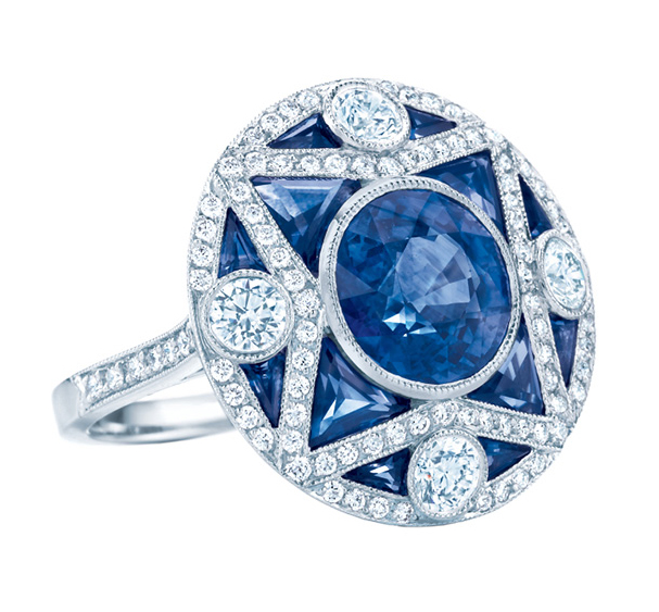 a4194db7a The Great Gatsby Collection Sapphire Ring. Tiffany & Co. also unveiled the Ziegfeld  Collection - sterling silver and Onyx ...