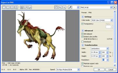 Export Gambar Tanpa Background Format PNG di CorelDRAW