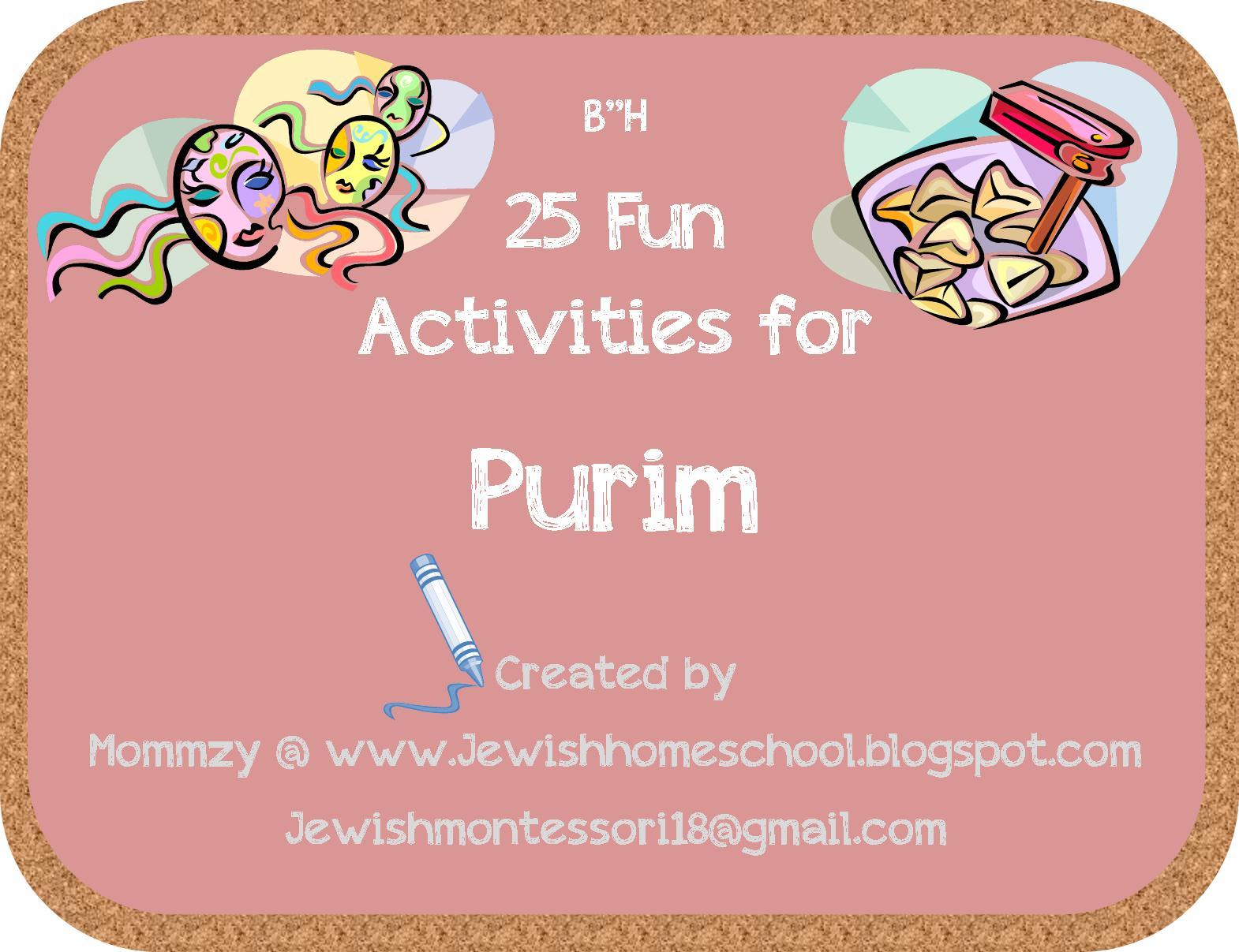 A Jewish Homeschool Blog 25 Fun Activities For Purim