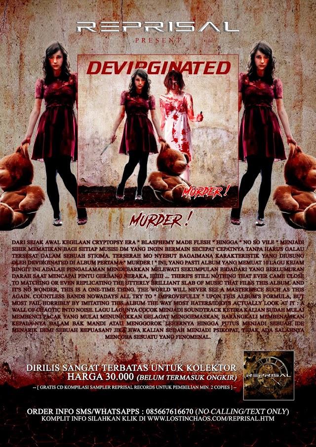 DEVIRGINATED - Murder! ' CD MASIH TERSEDIA SANGAT TERBATAS !!!
