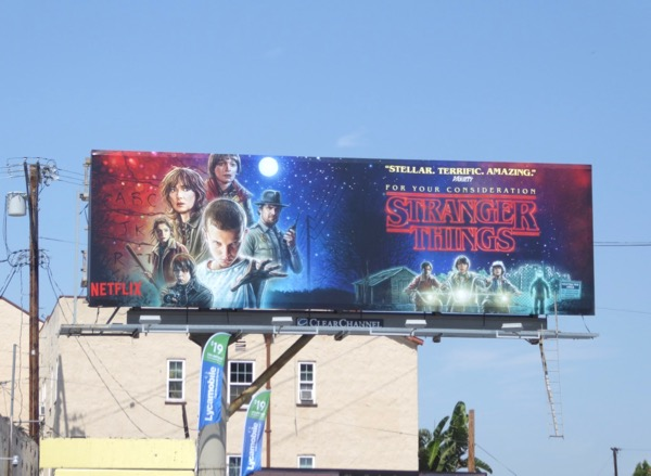 Stranger Things 2017 Emmy fyc billboard
