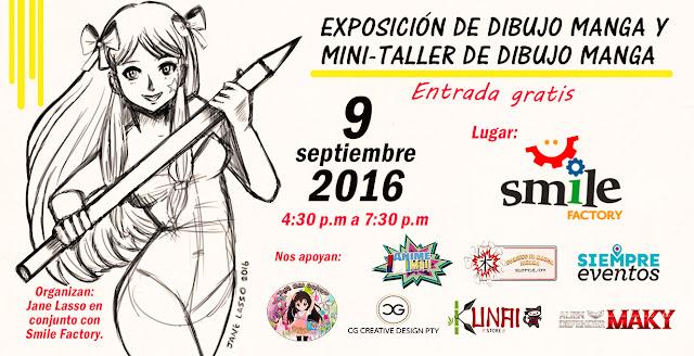 afiche para exposición de dibujo manga