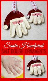 handmade santa claus salt dough christmas ornament