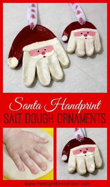 handmade santa claus salt dough christmas ornament
