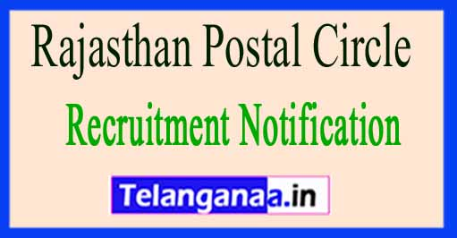 Rajasthan Postal Circle Recruitment Notification 2017