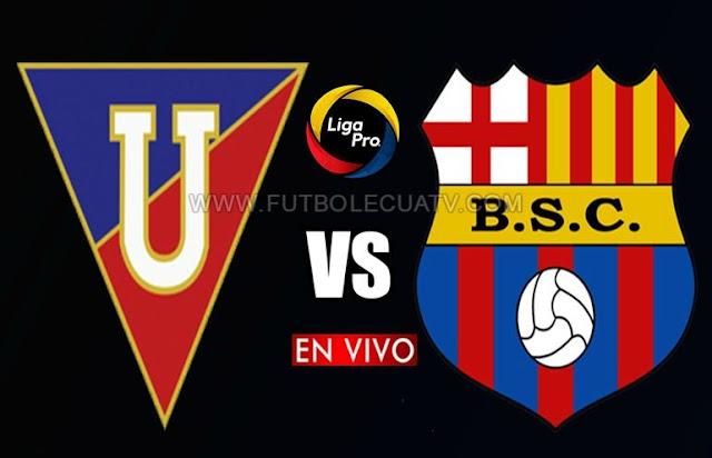 Liga de Quito y Barcelona SC se enfrentan en vivo 📺 a partir de las 19h15 hora local por la fecha 22 de la Liga Pro ✅ a disputarse en el Estadio Rodrigo Paz Delgado, siendo el árbitro principal del partido Augusto Aragon con transmisión online del canal oficial GolTV Ecuador.