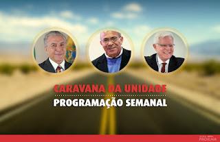Eliseu Padilha - Caravana da Unidade - programação da semana