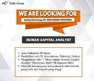 Lowongan Kerja Human Capital Analyst di PT Haka Sarana Investasi