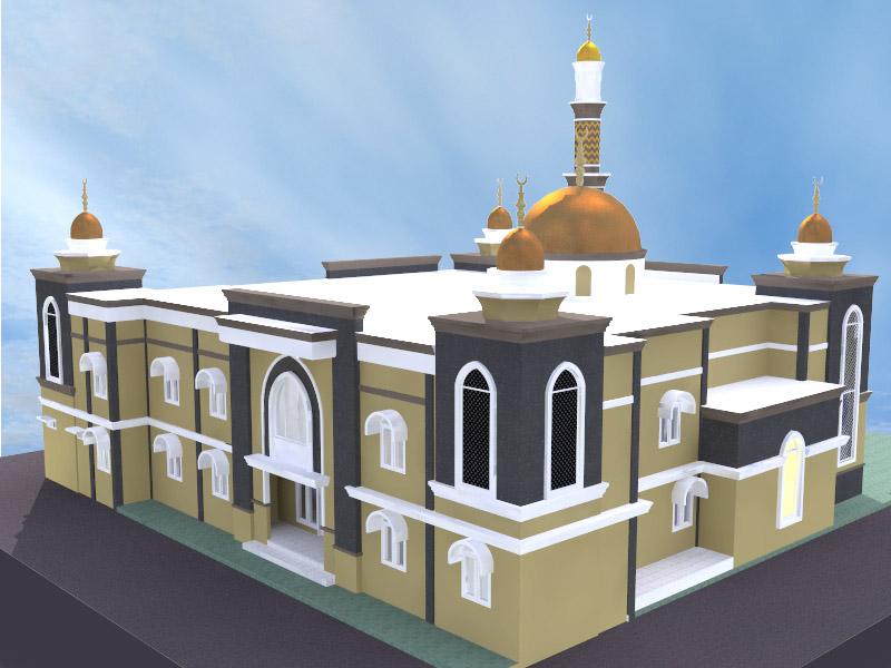 Gambar Rumah Modis Update Contoh Desain Masjid Minimalis 1 Dan 2 Lantai