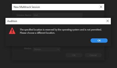 "ketika klik ""multitrack"", muncul pesan error"