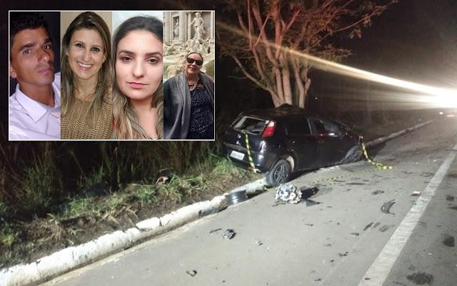 Batida entre veículos deixa 4 mortos entre Santana da Vargem e Boa Esperança (Foto: Corpo de Bombeiros / Redes Sociais)