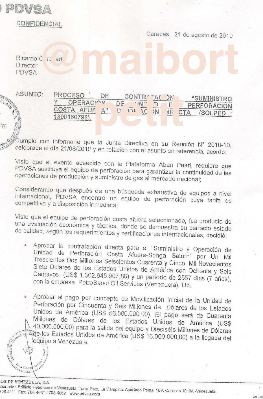 Maibort Petit Intocables De Pdvsa Por Contrataci N Del Buque  # Registro Bienes Muebles Buques