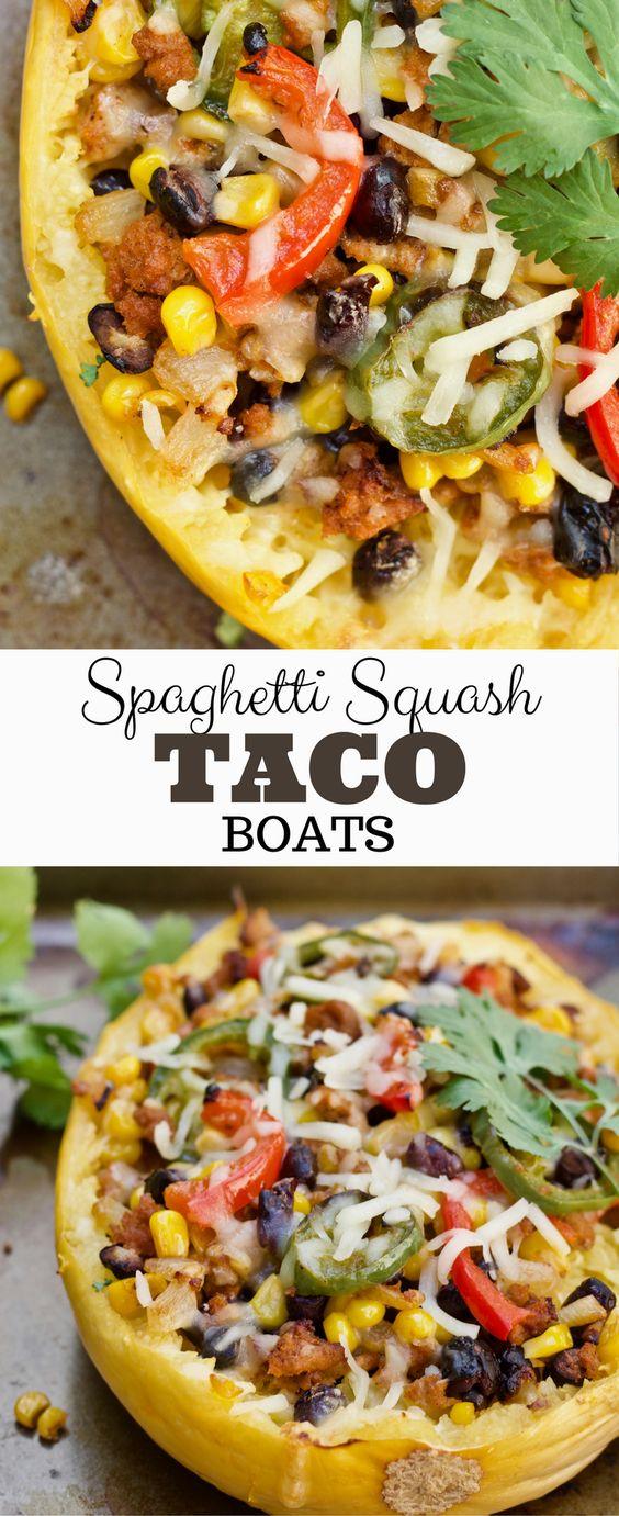 Easy Mexican Spaghetti Squash Boats
