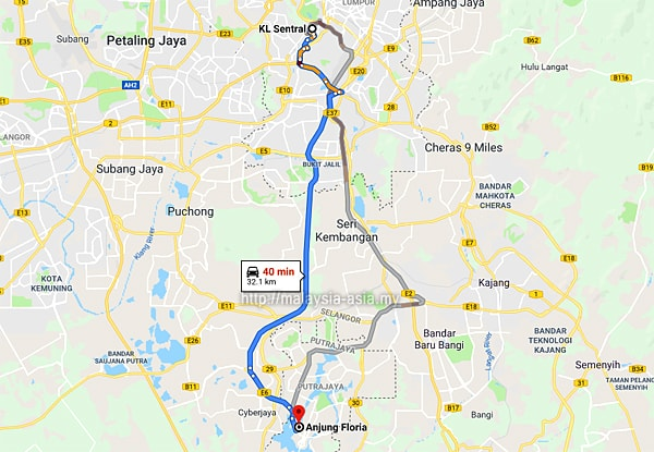 Royal Floria Direction Map