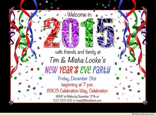 New Year 2015 Invitation Greeting Cards Templates Designs New Year ...