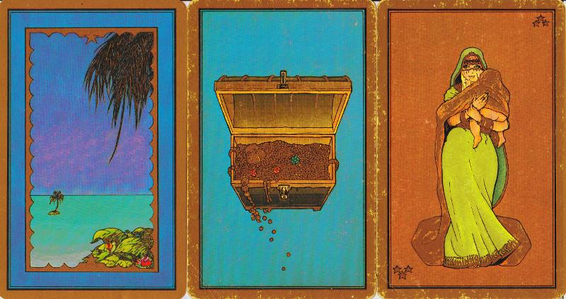 3 cartes de mon tarot indira