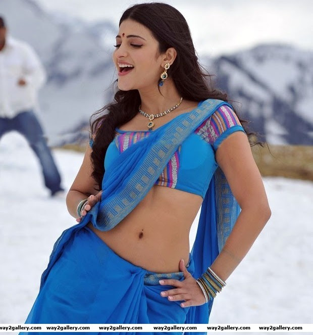 Shruthi Hassan In saree new  hot and sexy images