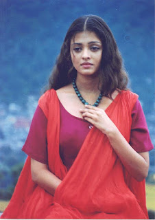 Sad Aishwarya Rai In Red Saree