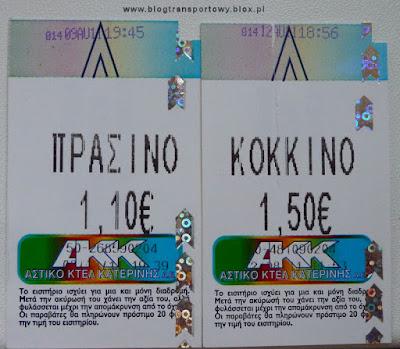 Bilety z AKK Katerini