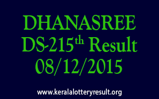 DHANASREE DS 215 Lottery Result 08-12-2015