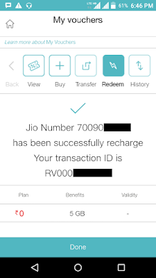 How To Use Extra 5 GB Free Data Voucher In Jio