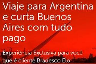 Cadastrar Promoção Bradesco Elo Viagem Buenos Aires Argentina Tudo Pago