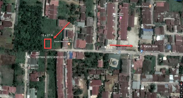 Jual tanah murah SHM ukuran 15x27 m di Jl. Eka Bhakti Karya Jaya Medan Johor Sumatera Utara