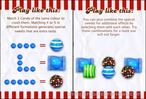Instrucciones Candy Crush Saga